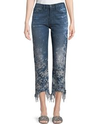 3x1 - W3 Higher-ground Straight-leg Cropped Jeans W/ Distressed Sides - Lyst