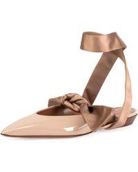 Altuzarra - Kirk Ankle-tie Ballet Flats - Lyst
