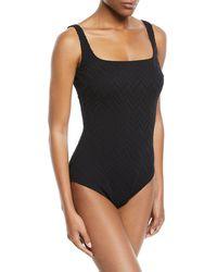 Gottex - Jazz Square-neck One-piece Swimsuit - Lyst