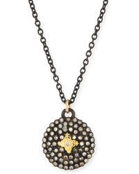 Armenta - Old World Midnight Small Round Shield Pendant Necklace - Lyst
