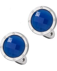 Jan Leslie | Blue Agate Faceted Cuff Links | Lyst