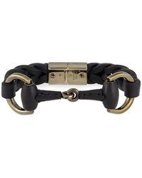 Gucci | Leather Bracelet With Horsebit Detail | Lyst