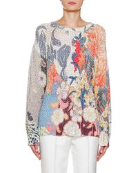 Etro - Boucle Floral Knit Sweater - Lyst