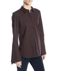 Lafayette 148 New York - Cynthia Blouse In Spirited Stripes - Lyst