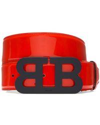 Bally - Mirror B Leather Belt - Lyst