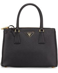 Prada - All Designer Products - Saffiano Small Lux Double-zip Tote Bag - Lyst