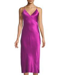 Olivia Von Halle - Issa Sleeveless Long Silk Nightgown - Lyst
