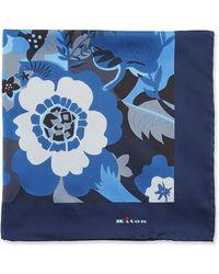 Kiton - Floral Silk Pocket Square - Lyst