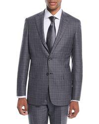 Brioni - Men's Plaid Wool-silk Two-piece Suit - Lyst