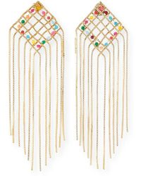Rosantica - Aquilone Multicolor Kite Fringe Earrings - Lyst