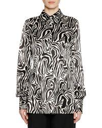 Marni - Long-sleeve Button-down Zebra-print Woven Shirt - Lyst