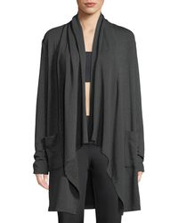 Beyond Yoga - Everyday Draped Open-front Cardigan - Lyst