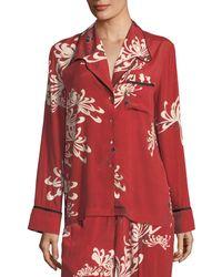 McQ - Button-front Pajama Silk Shirt - Lyst