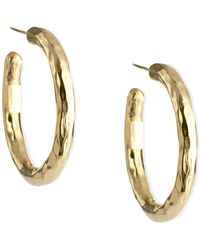 Ippolita 18K Glamazon Thick Small Flat Hoop Earrings YIWrqgiR3