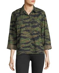 M.i.h Jeans - Tiger-camo Button-front Boxy Shirt - Lyst