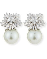 Fallon - Crystal Starburst Pearly Earrings - Lyst