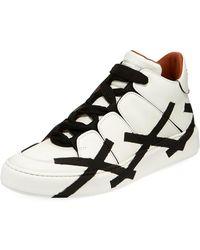 Ermenegildo Zegna - Tiziano Men's High-top Leather Sneakers - Lyst