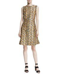 Etro - Leopard-print Sleeveless A-line Dress - Lyst