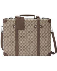 Gucci - Men's Globe-trotter GG Canvas Briefcase - Lyst