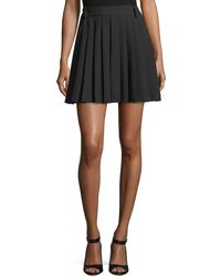 RED Valentino - Pleated Cady Tech Skort - Lyst