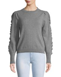 M.i.h Jeans - Bianca Cashmere/wool Ruffle Crewneck Jumper - Lyst