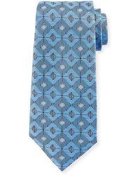 Ermenegildo Zegna - Large Diamond Silk Tie - Lyst