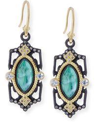 Armenta - Old World Emerald Triplet Drop Earrings With Diamonds - Lyst