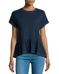 The Great - The Ruffle Short-sleeve Tee - Lyst