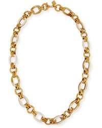 Ashley Pittman - Ikulu Light Horn & Bronze Link Necklace - Lyst