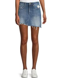 DL1961 - Georgia A-line Asymmetric-hem Denim Mini Skirt - Lyst