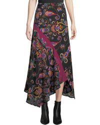 Etro - Floral Asymmetric Skirt - Lyst