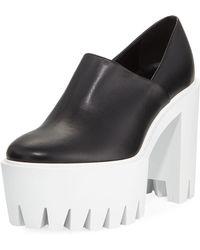 Stella McCartney - Faux-leather Platform Lug-sole Pump - Lyst