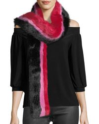 Charlotte Simone - Snugglez Faux-fur Striped Scarf - Lyst