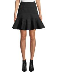 Akris Punto - Flippy Seamed-jersey Skirt - Lyst