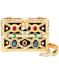 Lyst - Dolce   Gabbana Miss Dea Jeweled Clutch in White a601632c489ff