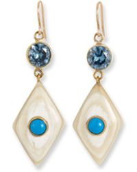 Ashley Pittman - Ngome Diamond-shaped Drop Earrings - Lyst