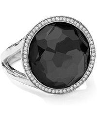Ippolita - Stella Lollipop Ring In Hematite & Diamonds - Lyst