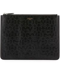 Givenchy - Men's Embossed Logo Leather Pouch - Lyst