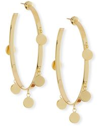 Jennifer Zeuner - Yolanda Disc Hoop Earrings - Lyst