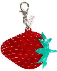 Edie Parker - Acrylic Strawberry Key Charm - Lyst