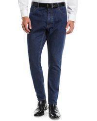 Prada - Men's New-fit Tapered-leg Denim Pants - Lyst