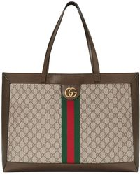 64771ccf6 Gucci - Ophidia Soft GG Supreme Canvas Tote Bag With Web - Lyst