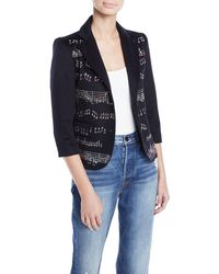 Libertine - Music-note Crystal-beaded Two-tone Blazer - Lyst