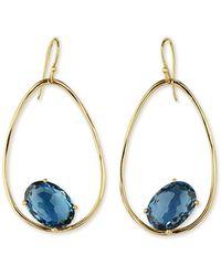 Ippolita - 18k Rock Candy Tipped Oval Wire Earrings In London Blue Topaz - Lyst
