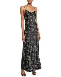 Libertine - Chinoiserie Crystal-embellished Cami Slip Dress - Lyst