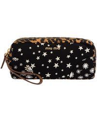 Miu Miu - Faille Mix-print Cosmetic Bag - Lyst