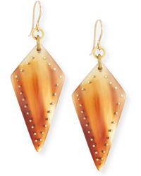 Ashley Pittman - Radi Studded Mixed Horn Drop Earrings - Lyst