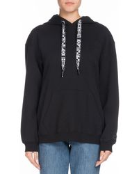 Proenza Schouler - Pswl Drawstring Hooded Pullover Sweatshirt - Lyst