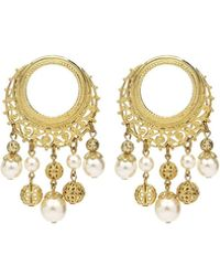 Ben-Amun - Round Pearly Drop Earrings - Lyst