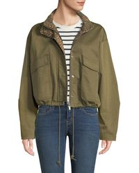 Current/Elliott - The Cropped Infantry Utility Jacket - Lyst